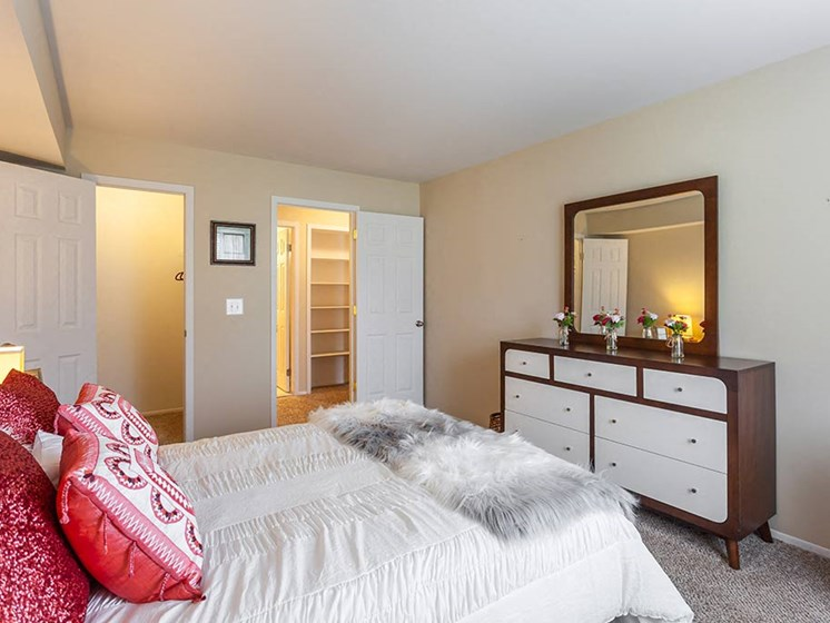 Lavish Bedroom With Ample Storage, at Northville Woods, Northville