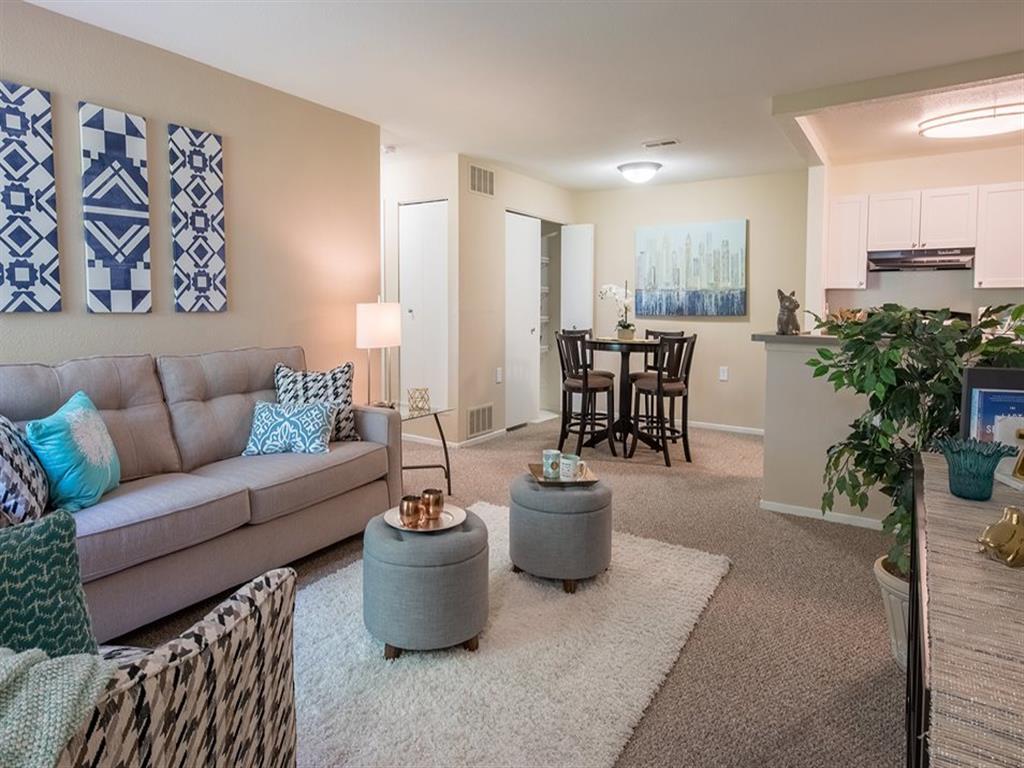 Spacious Living Room at Arbor Club Apartments