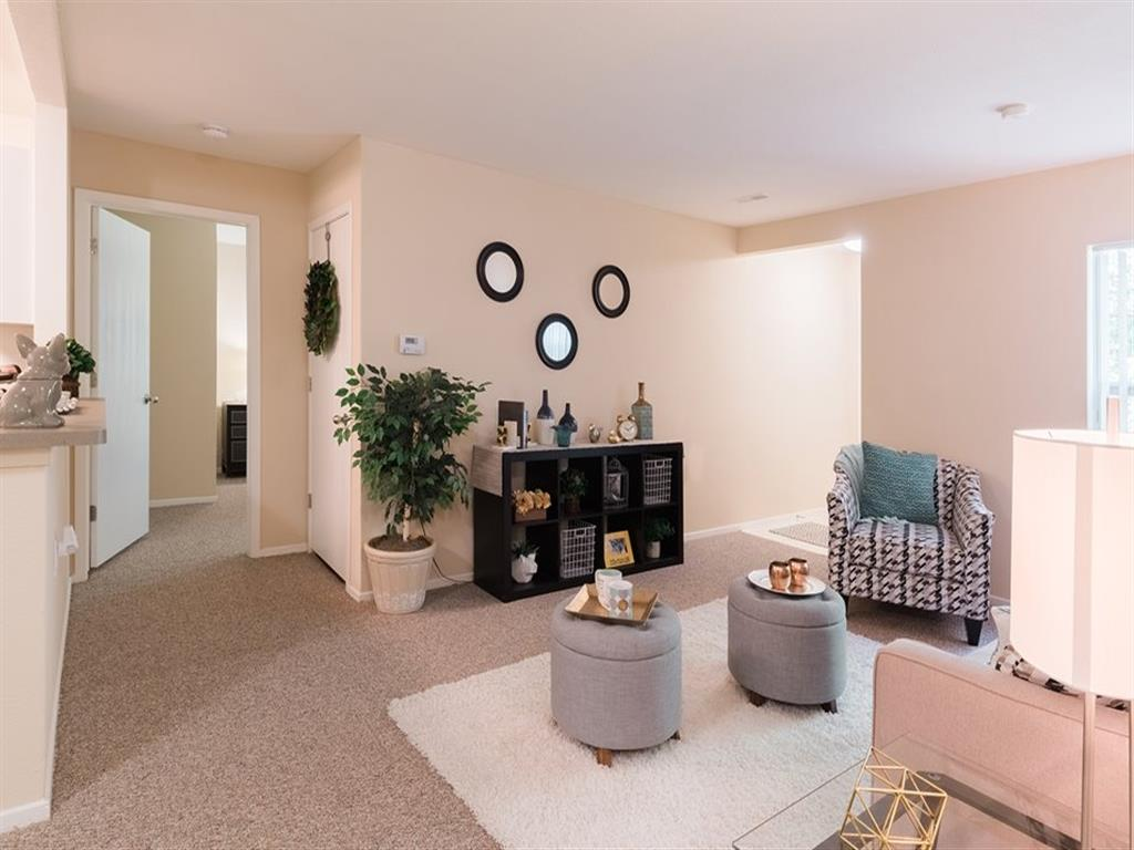 Cozy Living Room at Arbor Club Apartments
