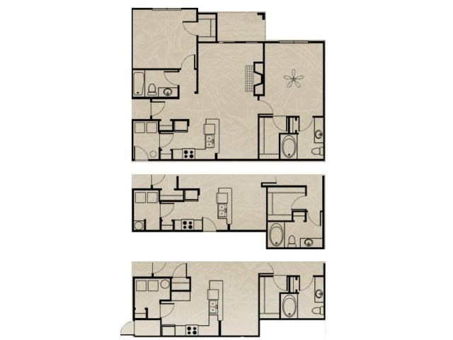 2 Bedroom, 2 Bath 1084 sqft Floor Plan 8
