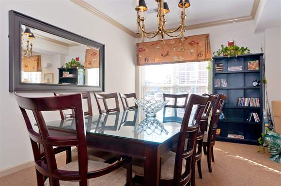 Meeting or dining table at Hampton Apartments Clubhouse