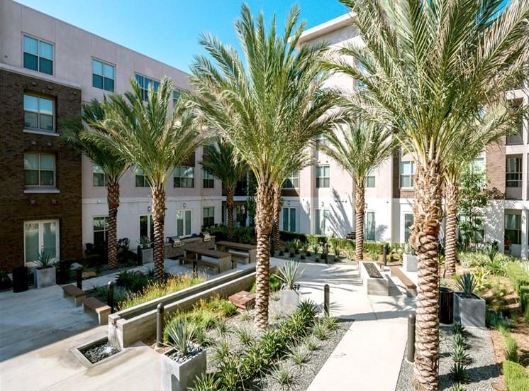 Beautiful Courtyard at Monterey Station, Pomona,California
