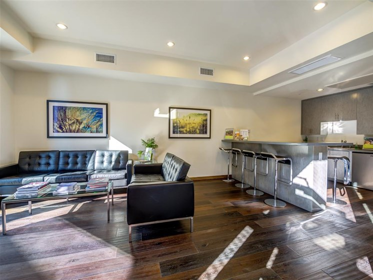 Resident Lounge with Kitchen at Monterey Station, Pomona, 91767