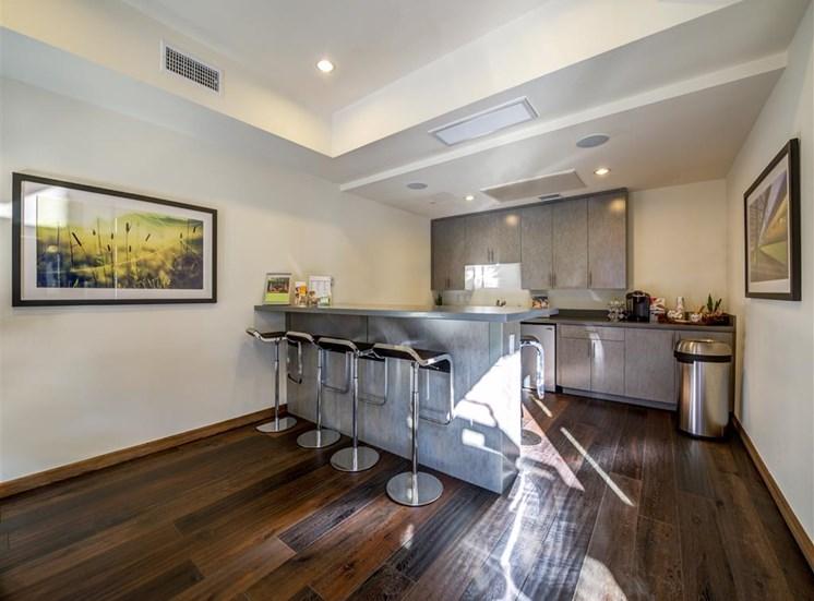 Kitchen with Breakfast Bar at Monterey Station, Pomona,California