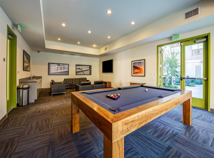Clubhouse with Pool Table at Monterey Station, California