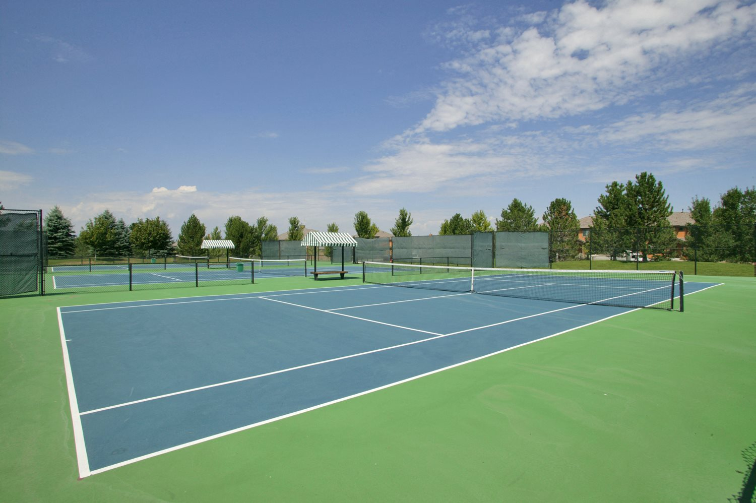 Three full-size tennis courts