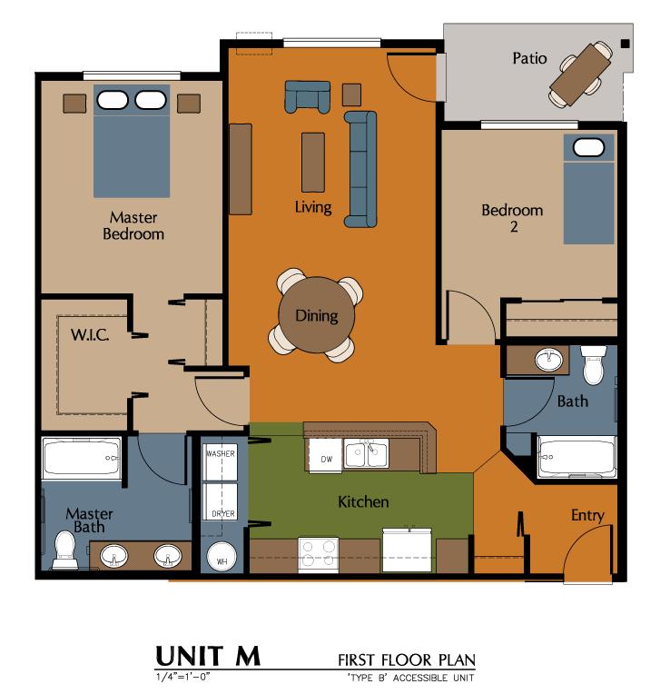 2 Bed, 2 Bath (1089 sf) Floor Plan 10