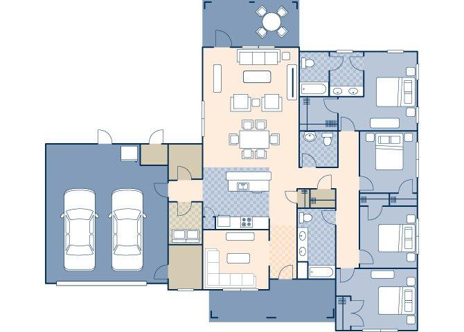 Beale West 2310 ADA Floor Plan 13
