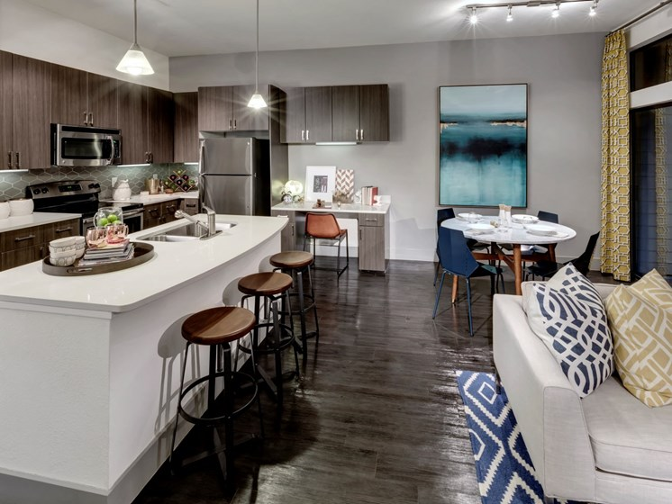 kitchen and dining apartments in katy