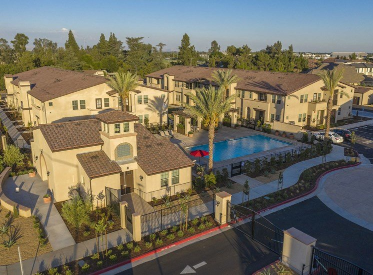 Aerial Photo of Clubhouse and Pool Area at Tempranillo Apartment Homes