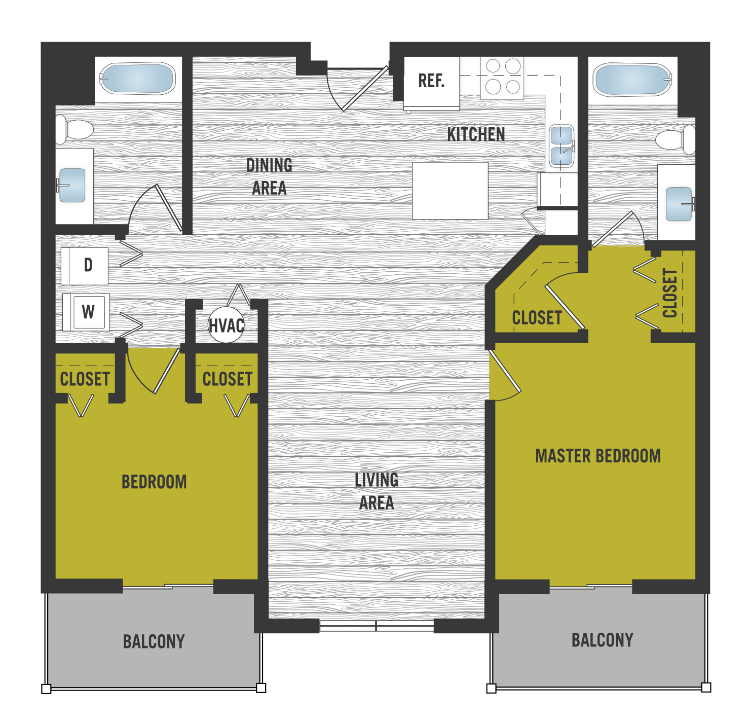 Floor Plan at SofA Downtown Luxury Apartments, Delray Beach,Florida