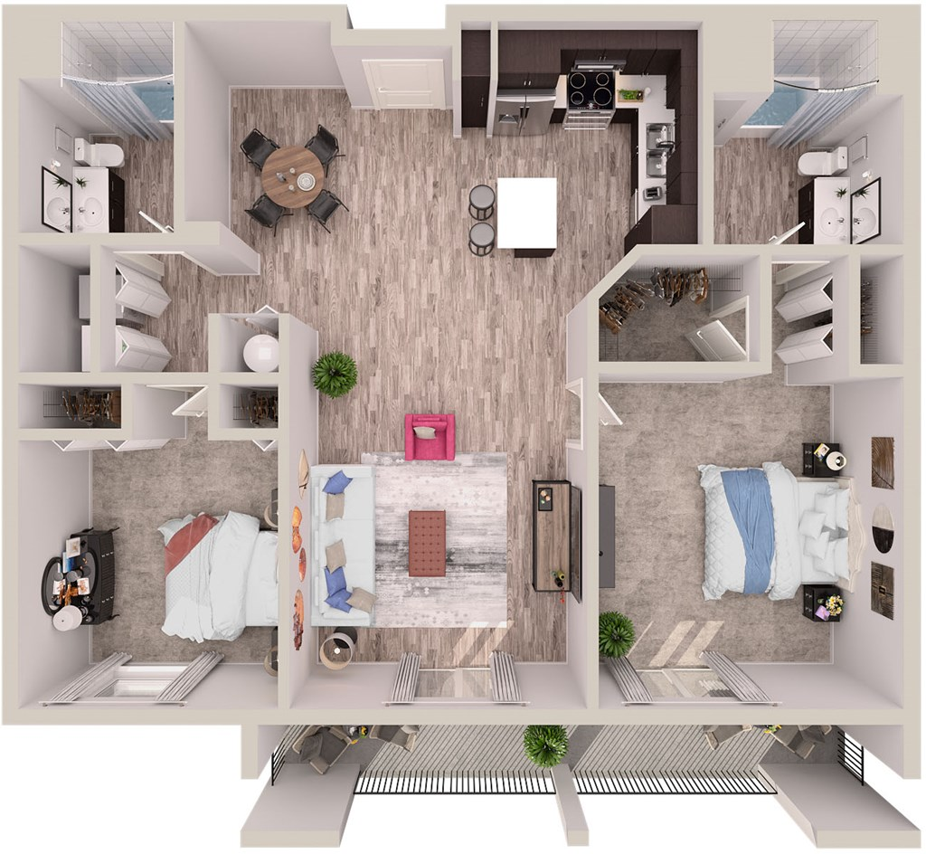B11 copy Floor Plan at SofA Downtown Luxury Apartments, Delray Beach, FL 33483