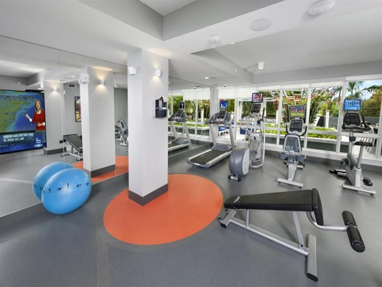 Health and Fitness Center at SofA Downtown Luxury Apartments, Delray Beach