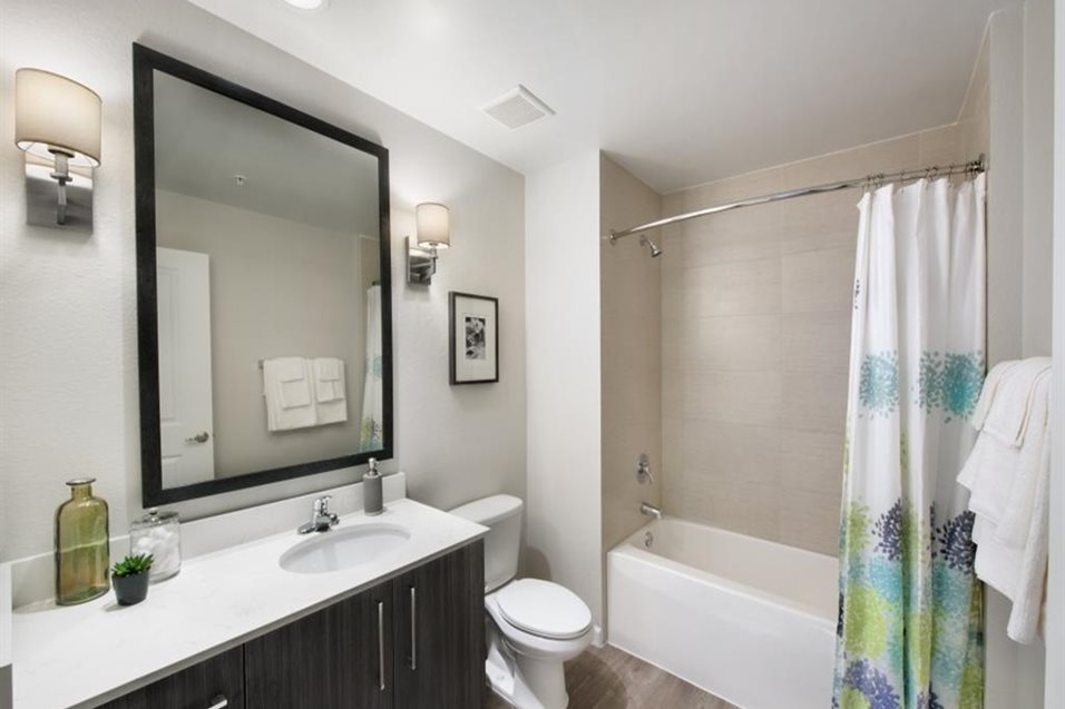 Bright Bathroom with Tub