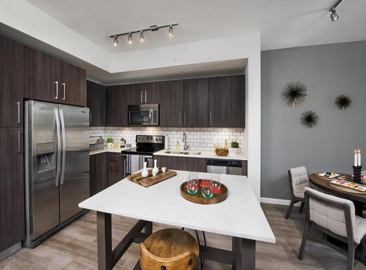 •	All Kitchens and Baths Complete with Quartz Countertops at SofA Downtown Luxury Apartments, Delray Beach, FL 33483