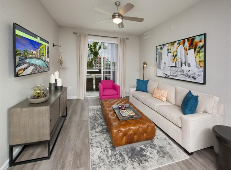 Oversized Private Patios & Balconies at SofA Downtown Luxury Apartments, Delray Beach, FL