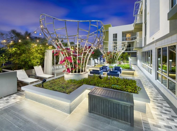 Beautifully Remolded Outdoor Lounge at SofA Downtown Luxury Apartments, Delray Beach, FL 33483