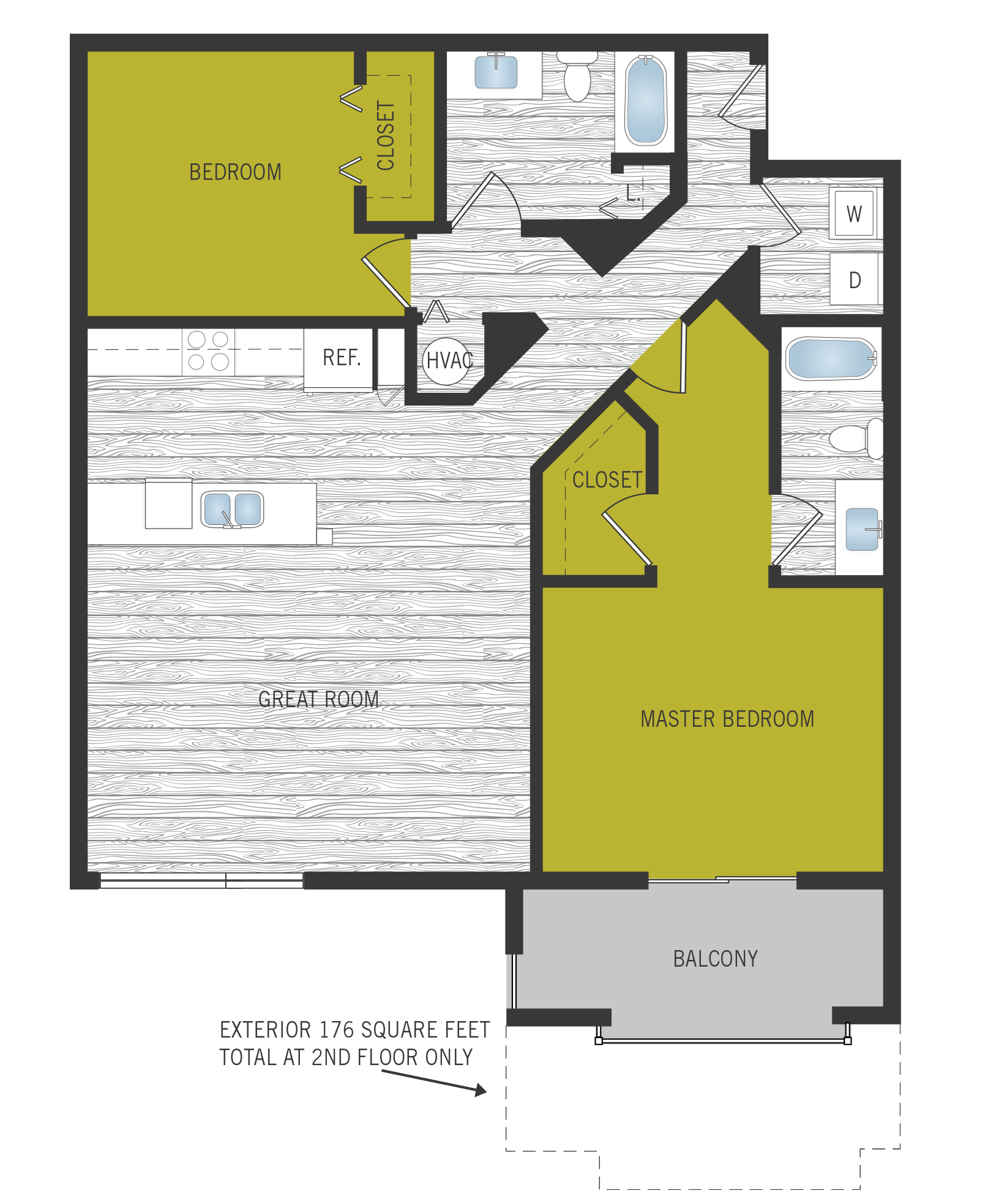 Floor Plan at SofA Downtown Luxury Apartments, Florida