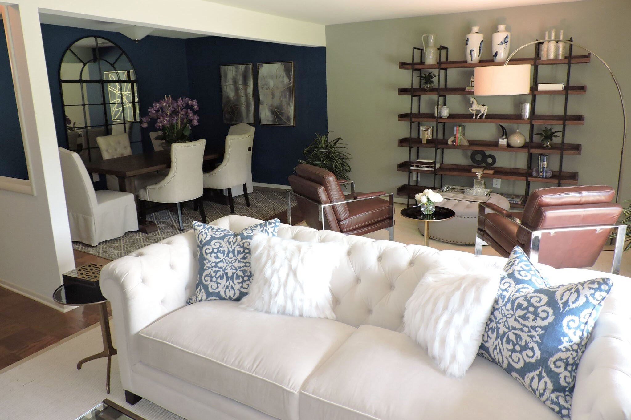 Living Room looking toward sitting area and dining room