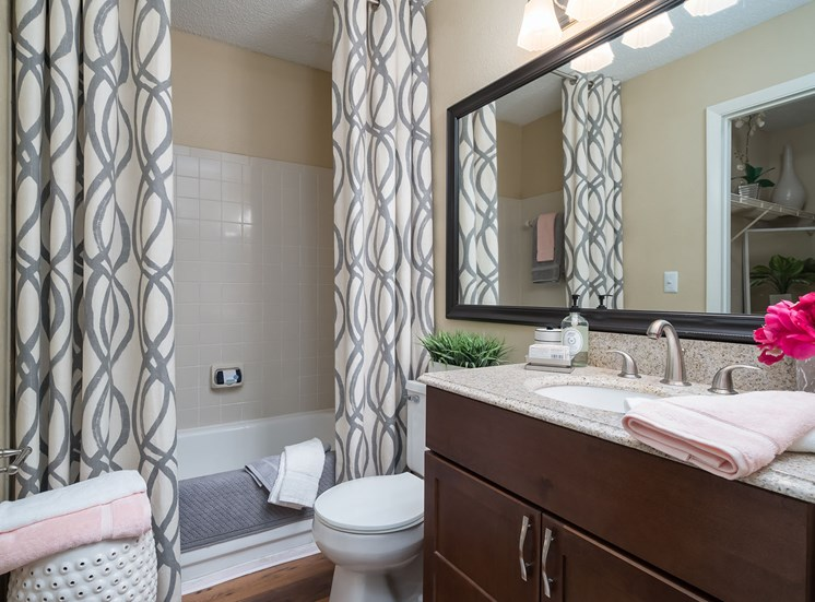 One-Bedroom Model Apartment Bathroom