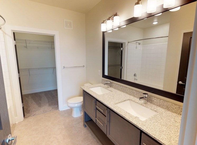 Luxury Apartments in Kirkwood | The Kirkwood Apartments | Large Bathrooms with Walk In Closets