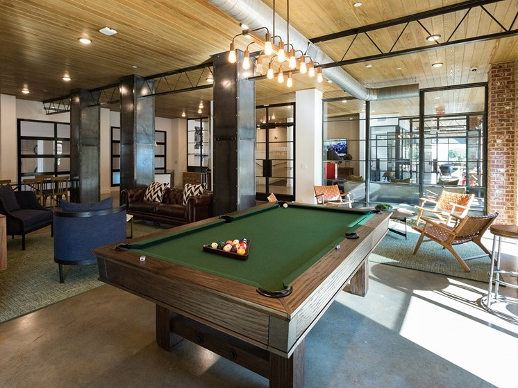 Lounge Areas with Billiards Table, at The Kirkwood, Atlanta, Georgia