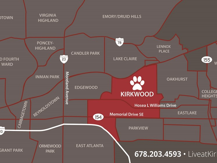 The Kirkwood Neighborhood Map, at The Kirkwood, Atlanta, Georgia
