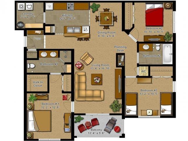 The Cascade Floor Plan 2