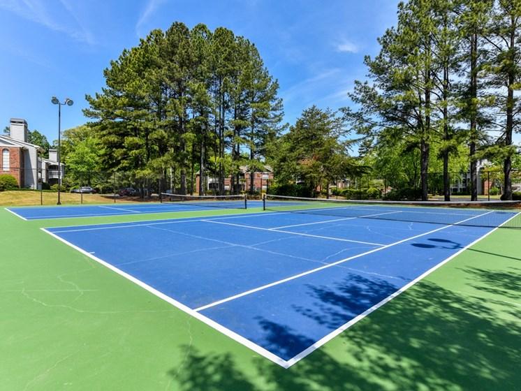 Tennis Court at The Lakes at Windward, Alpharetta, Georgia