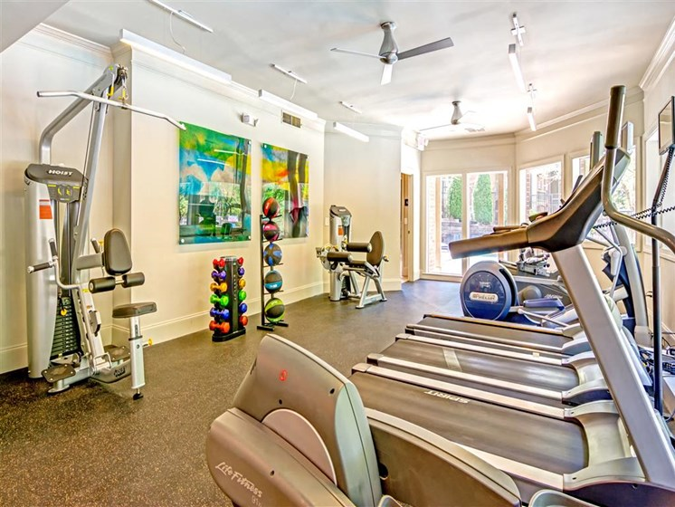 Fitness Center with Separate Spin Room at The Lakes at Windward, Georgia, 30004