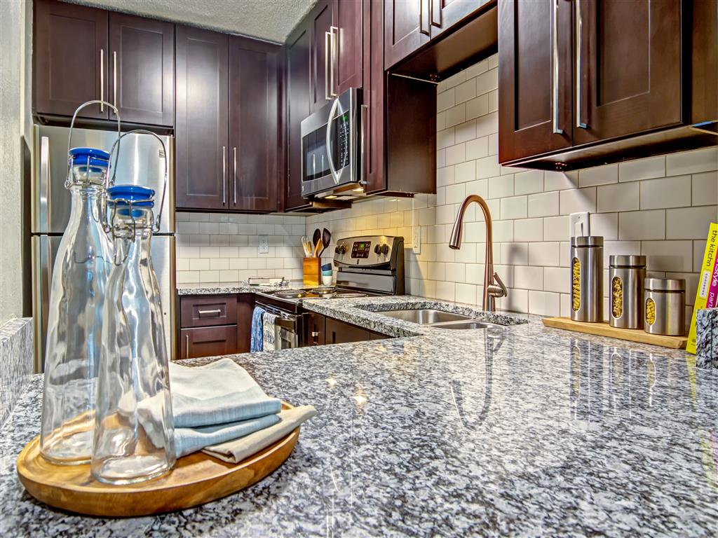Designer Granite Countertops At The Lakes At Windward, Alpharetta, GA