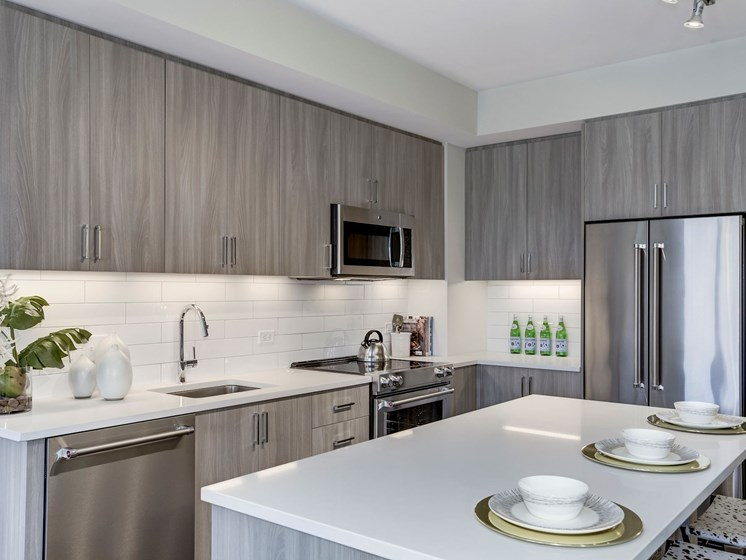 Kitchen One Bedroom AO5a with Island