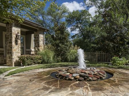 Bella Ruscello Luxury Apartment Homes Duncanville relaxing waterfall