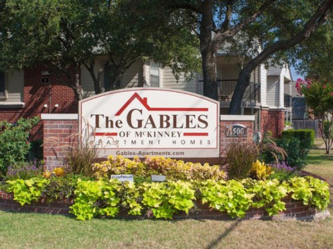 The Gables of McKinney Apartments McKinney, TX Entrance Sign