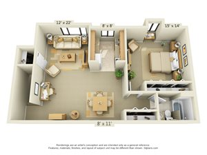 1 Bedroom Style A