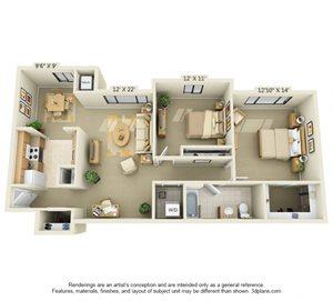 2 Bedroom Style B
