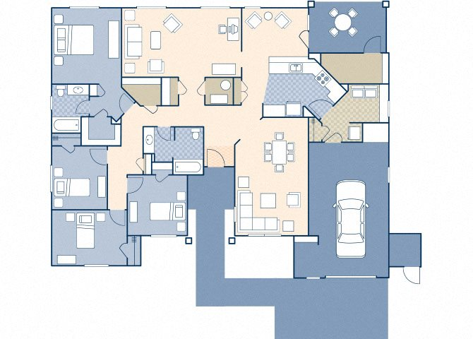 Matador Manor 1728 ADA Floor Plan 14