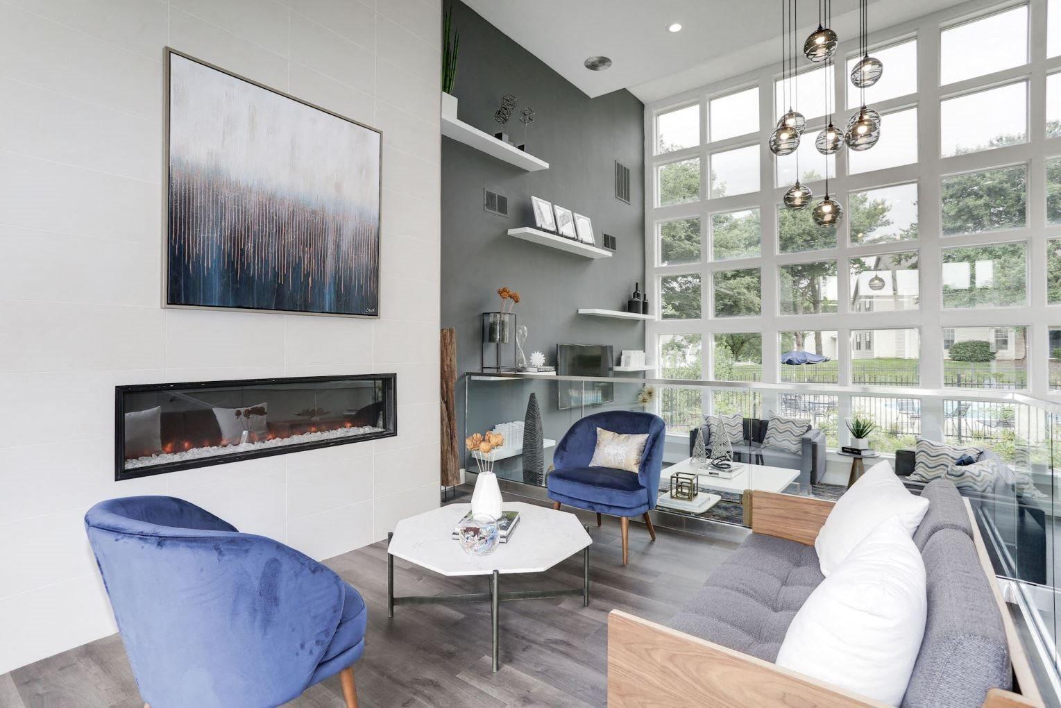 Modern Living Area at Madison at Eden Brook