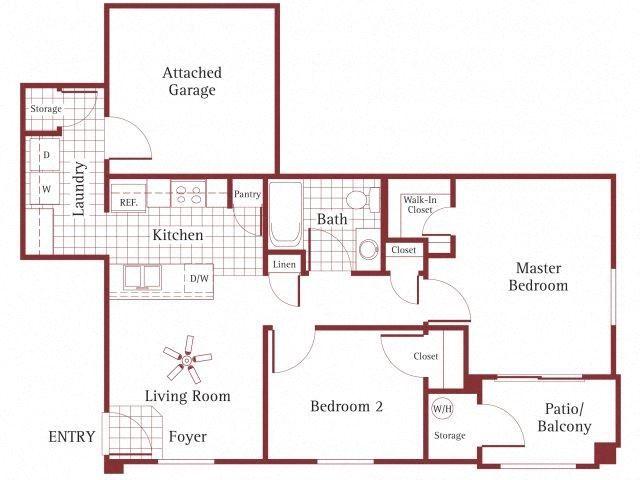 2 bedroom 1 bathroom at La Borgata Apartments in Surprise, AZ