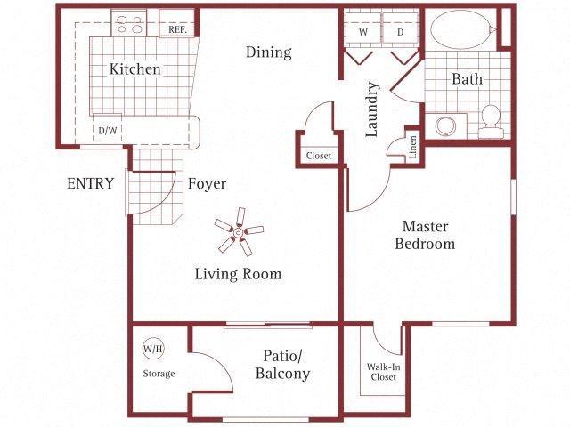 1 bedroom 1 bathroom at La Borgata Apartments in Surprise, AZ