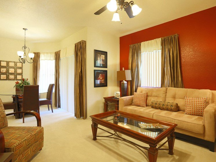 Living Room at La Borgata Apartments in Surprise, AZ