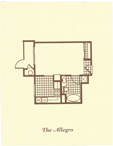 The Allegro Floor Plan 1