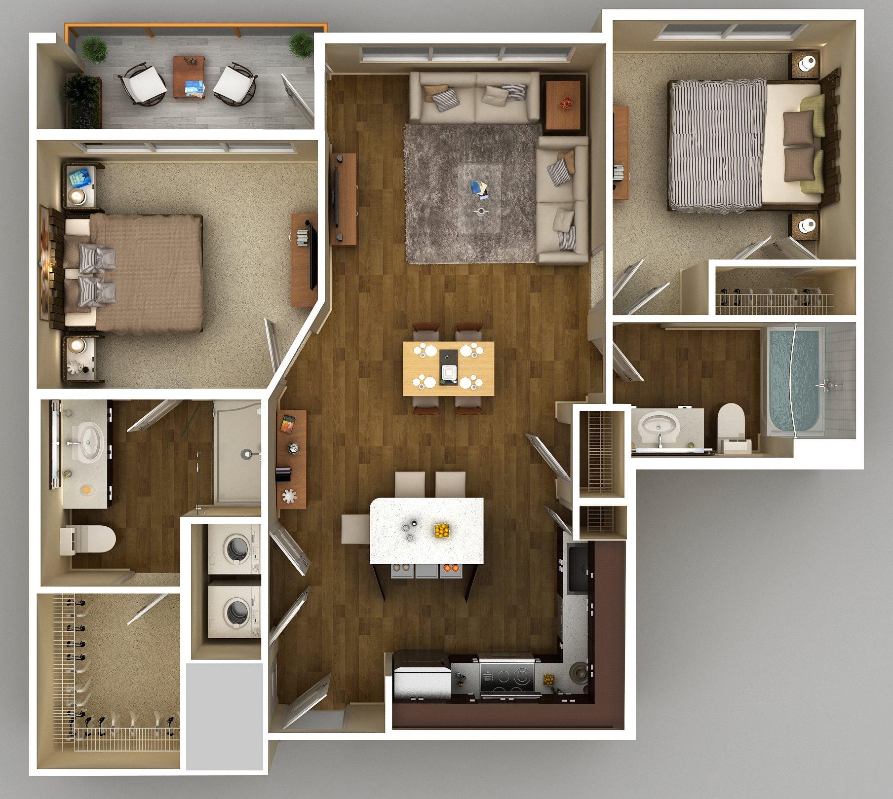 2x2 A Floor Plan 9