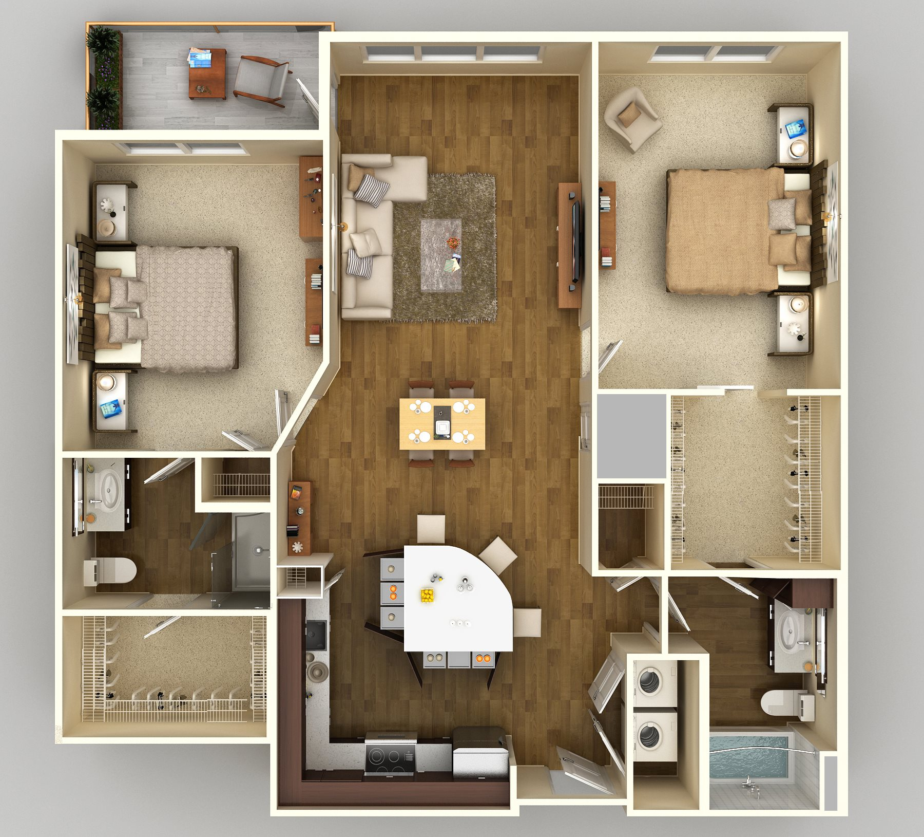 2x2 D Floor Plan 11