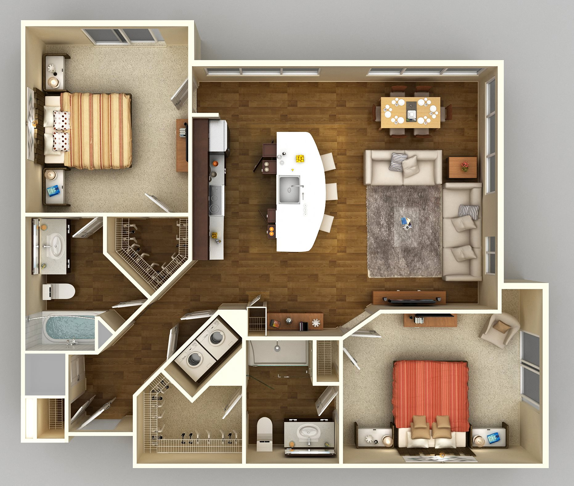 2x2 I Floor Plan 13