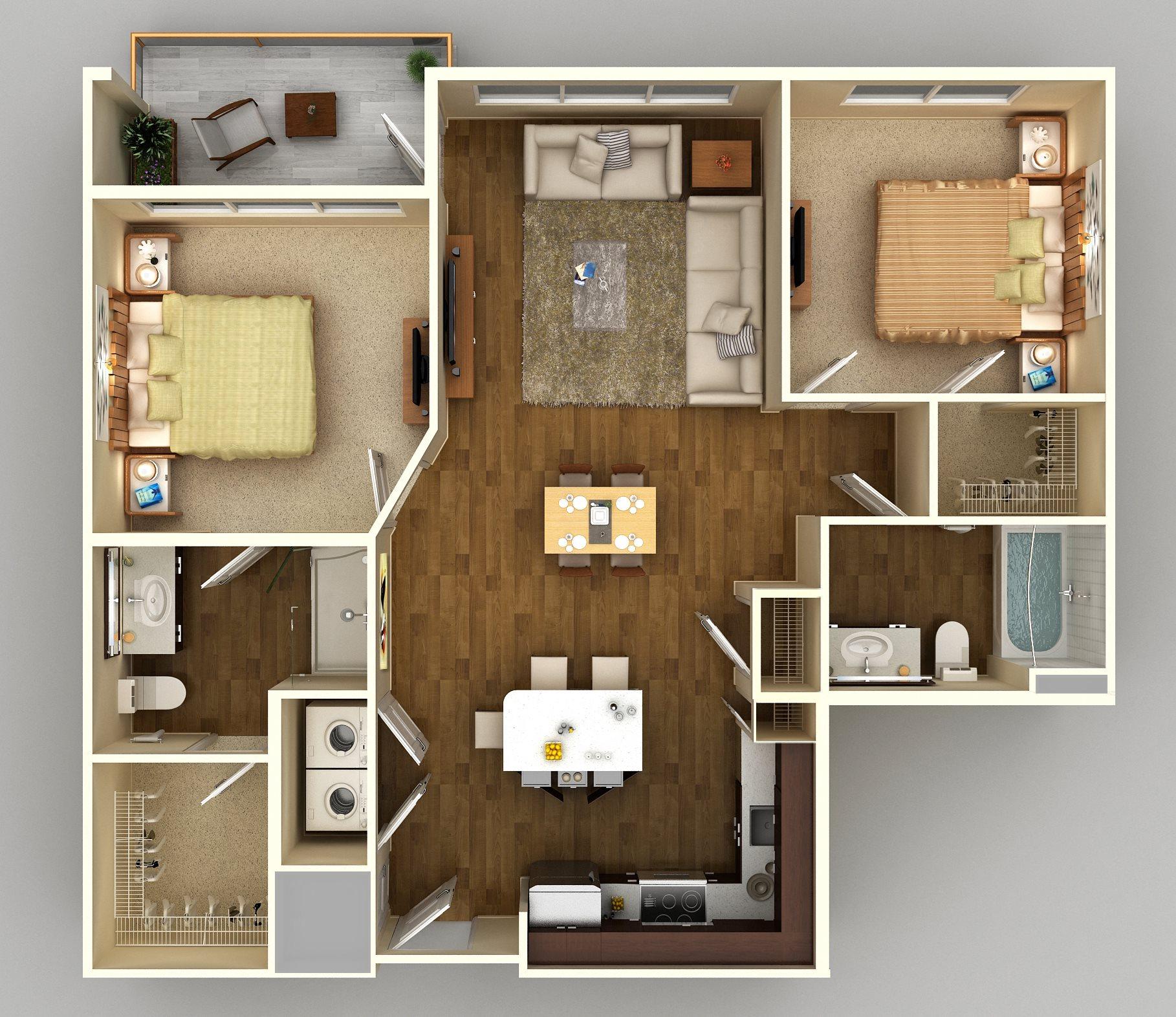2x2 C Floor Plan 10
