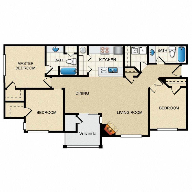 3 Bedroom A Floor Plan 5