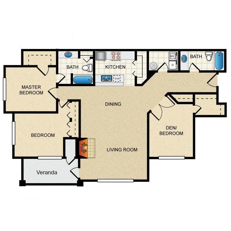 3 Bedroom B Floor Plan 6