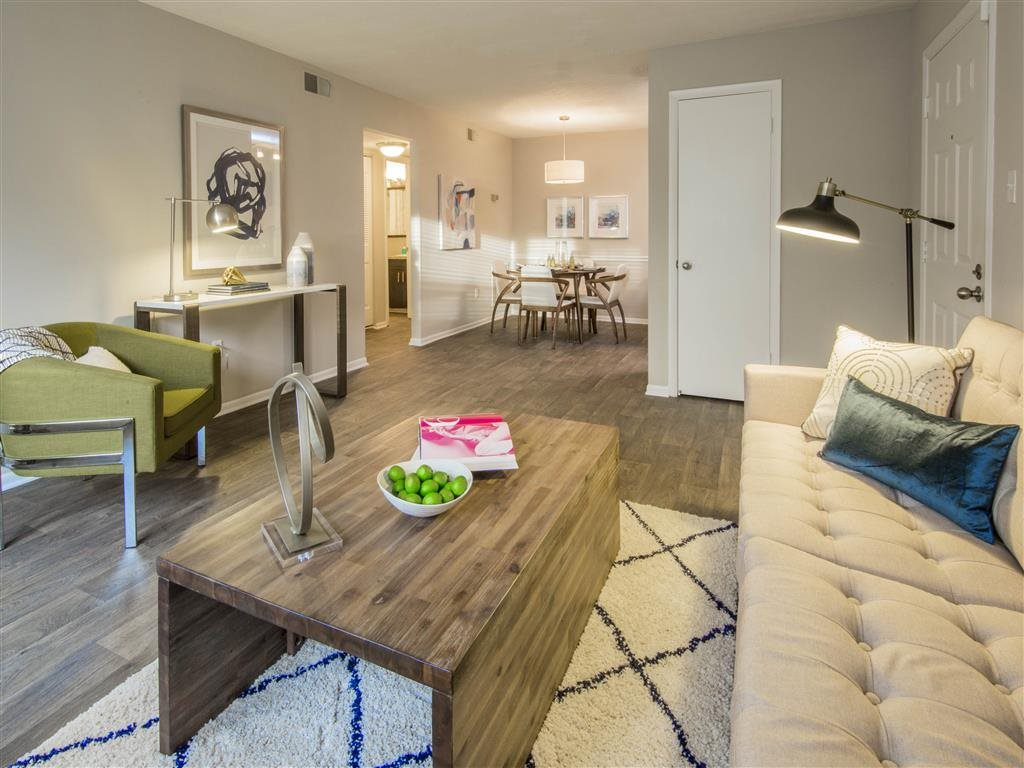 Pet-Friendly Apartments in Columbia Maryland - Hamilton at Kings Place Living Room