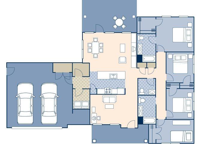 Air Commando Village 2200 B Floor Plan 4